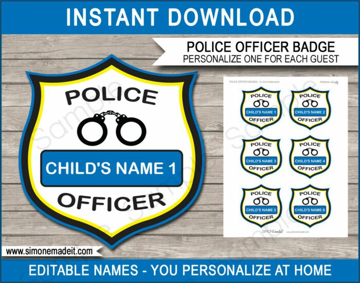 Free Police Party Invitation Templates