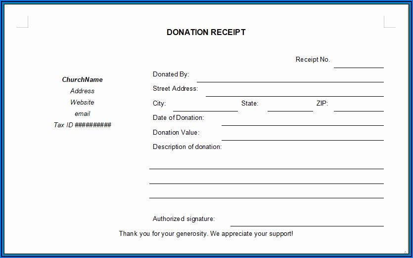 Free Printable Blank Receipt Form