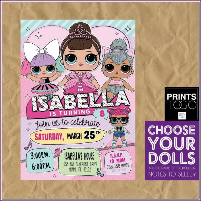 Free Printable Lol Doll Birthday Invitations