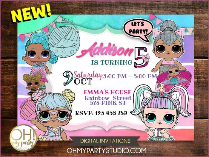 Free Printable Lol Doll Invitations