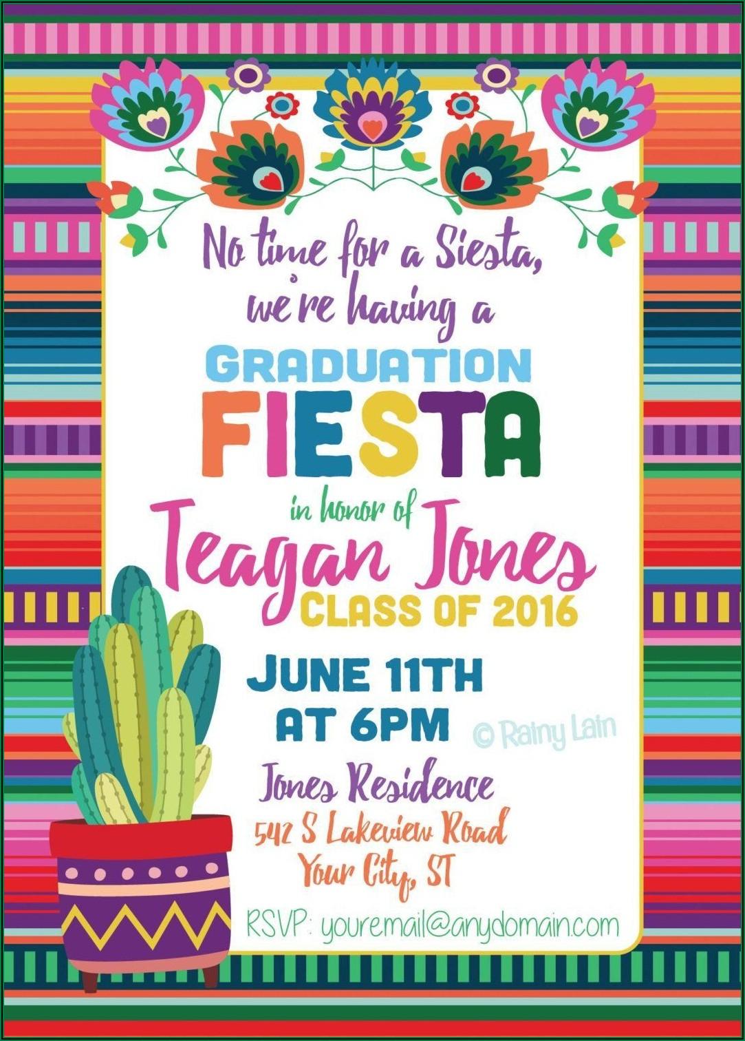 Free Printable Mexican Fiesta Invitation Templates