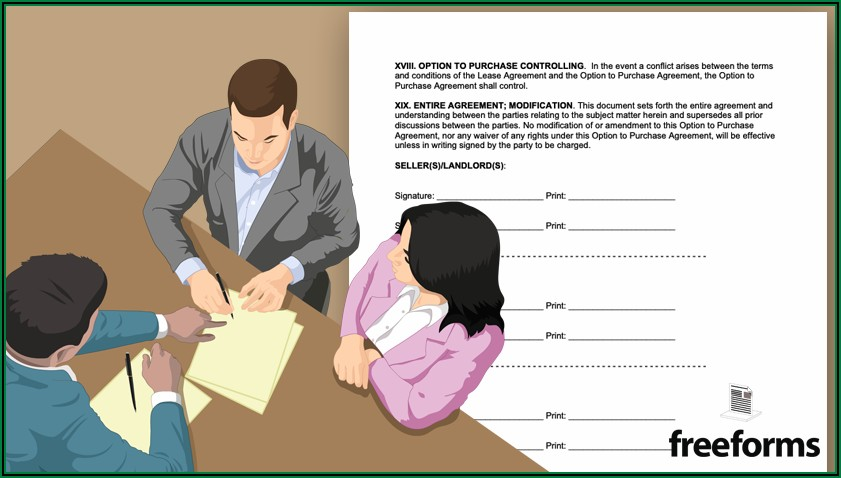 Free Rent To Own Lease Agreement Template