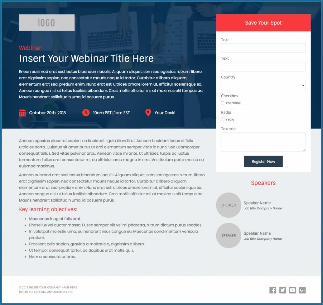 Free Responsive Pardot Landing Page Templates