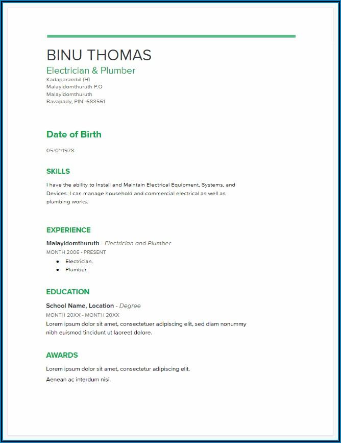 Free Resume Templates 2020 Google Docs
