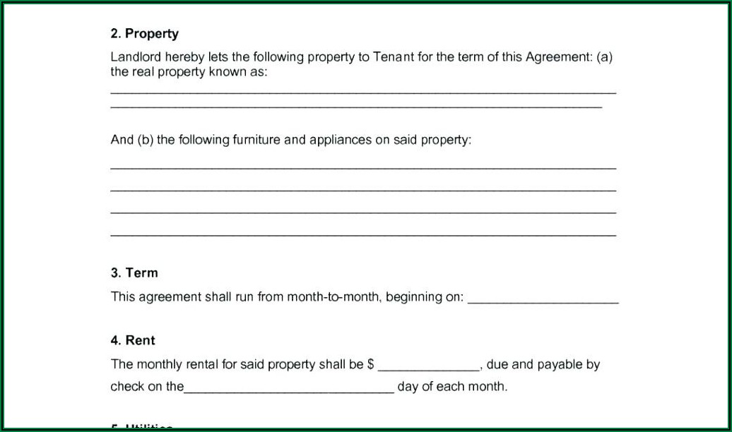 Free Tenant Agreement Form
