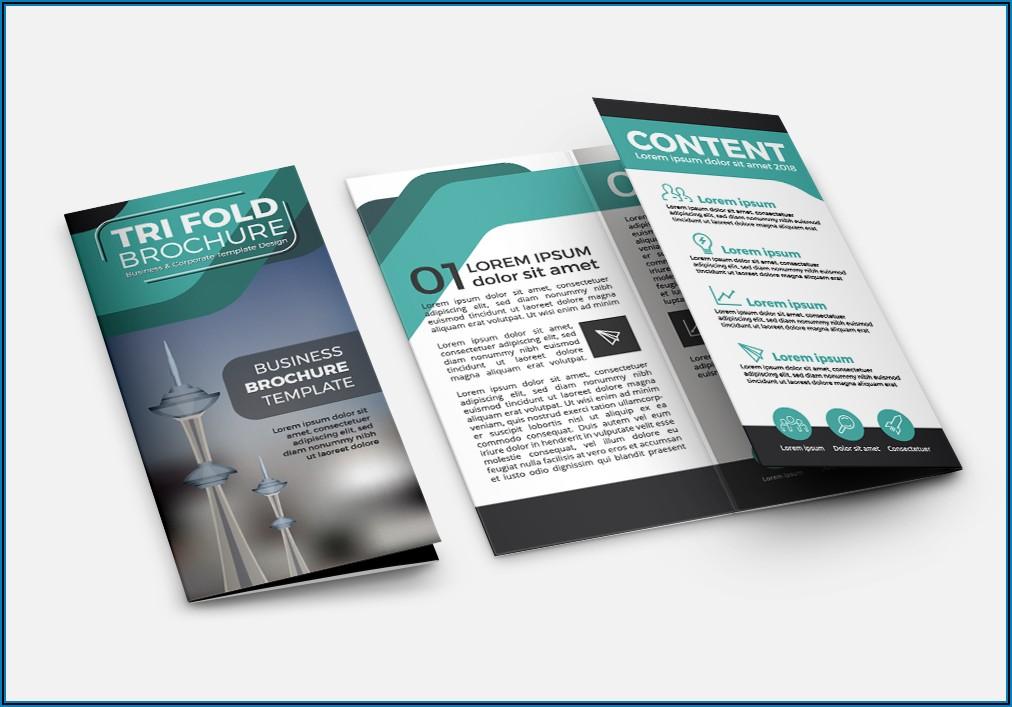 Free Tri Fold Brochure Design Templates Psd