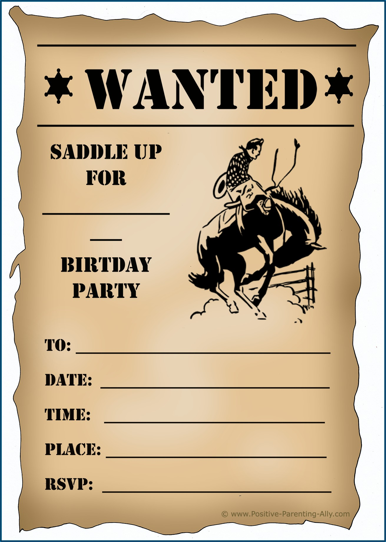 Free Wanted Birthday Invitation Template