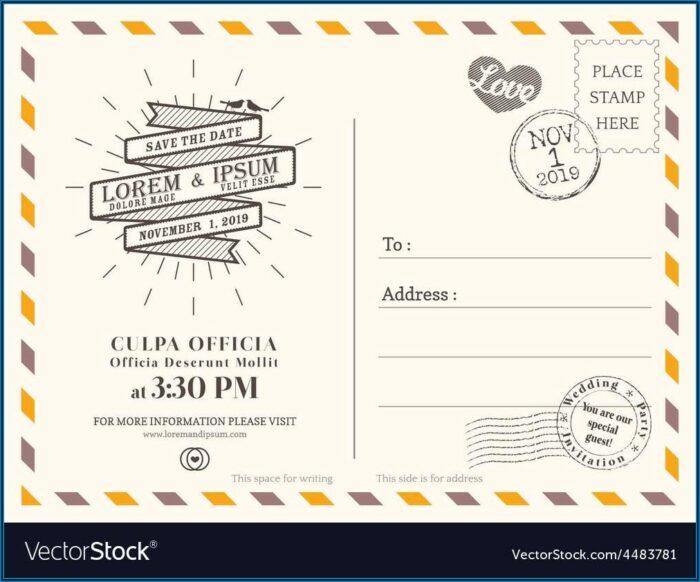 Free Wedding Postcard Template