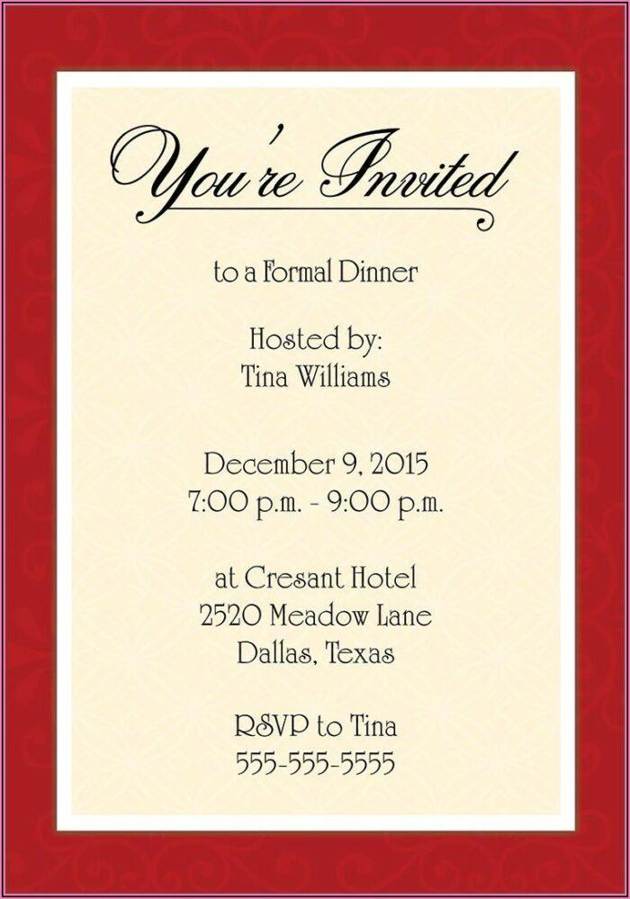 Gala Dinner Invitation Format