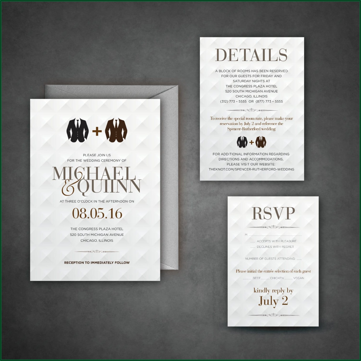Gay Wedding Invitation Cards
