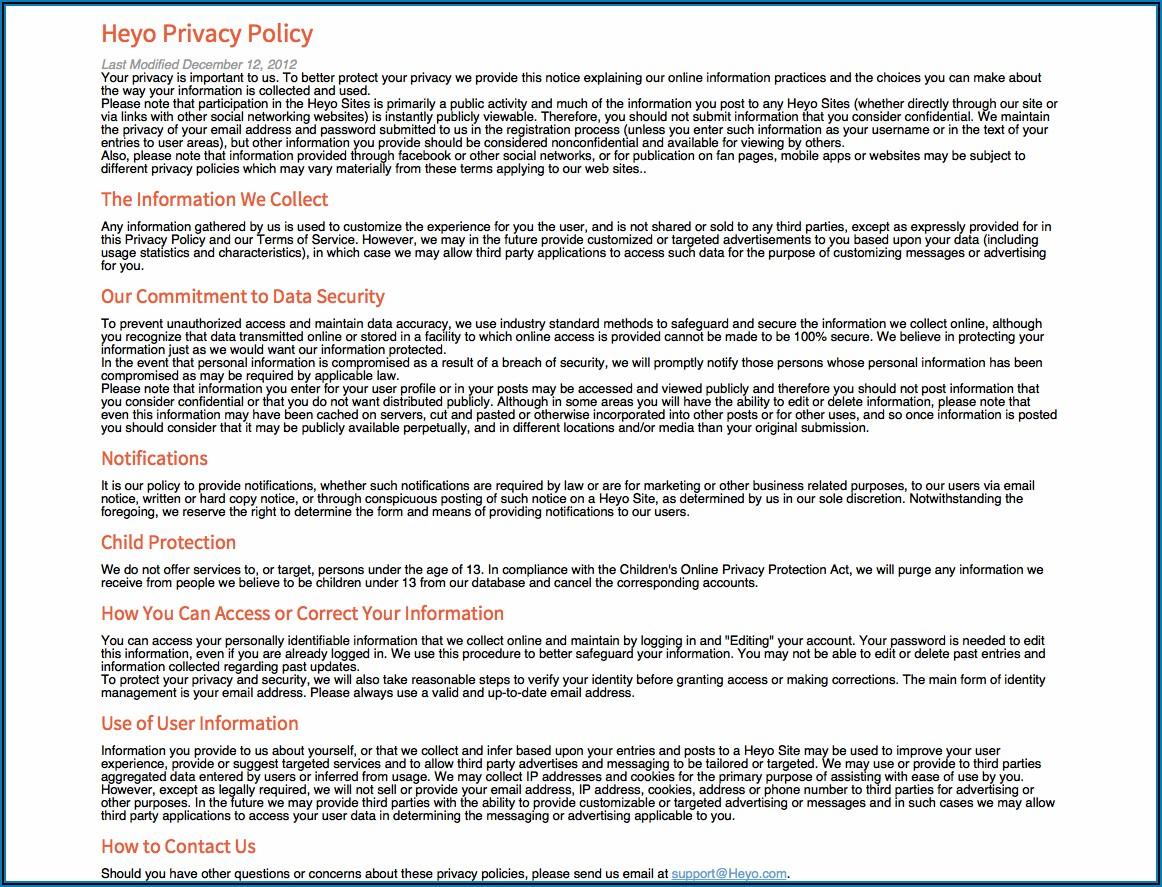 Gdpr Privacy Policy Template Recruitment