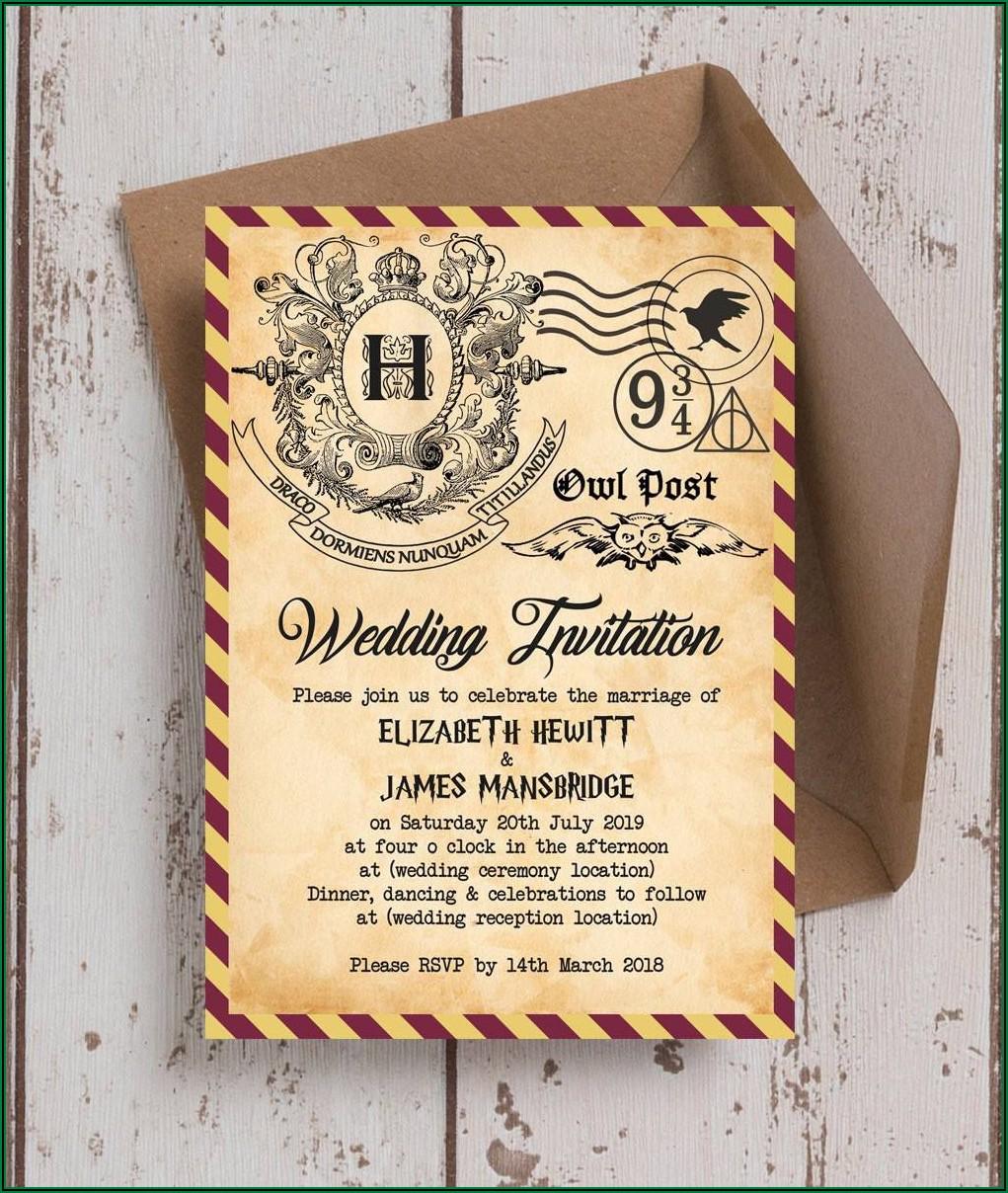 Harry Potter Wedding Invitations Template Free