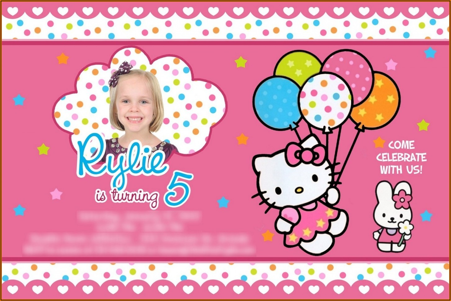 Hello Kitty Birthday Invitation Background