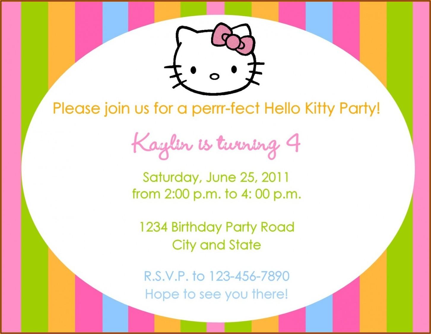 Hello Kitty Invitation Background