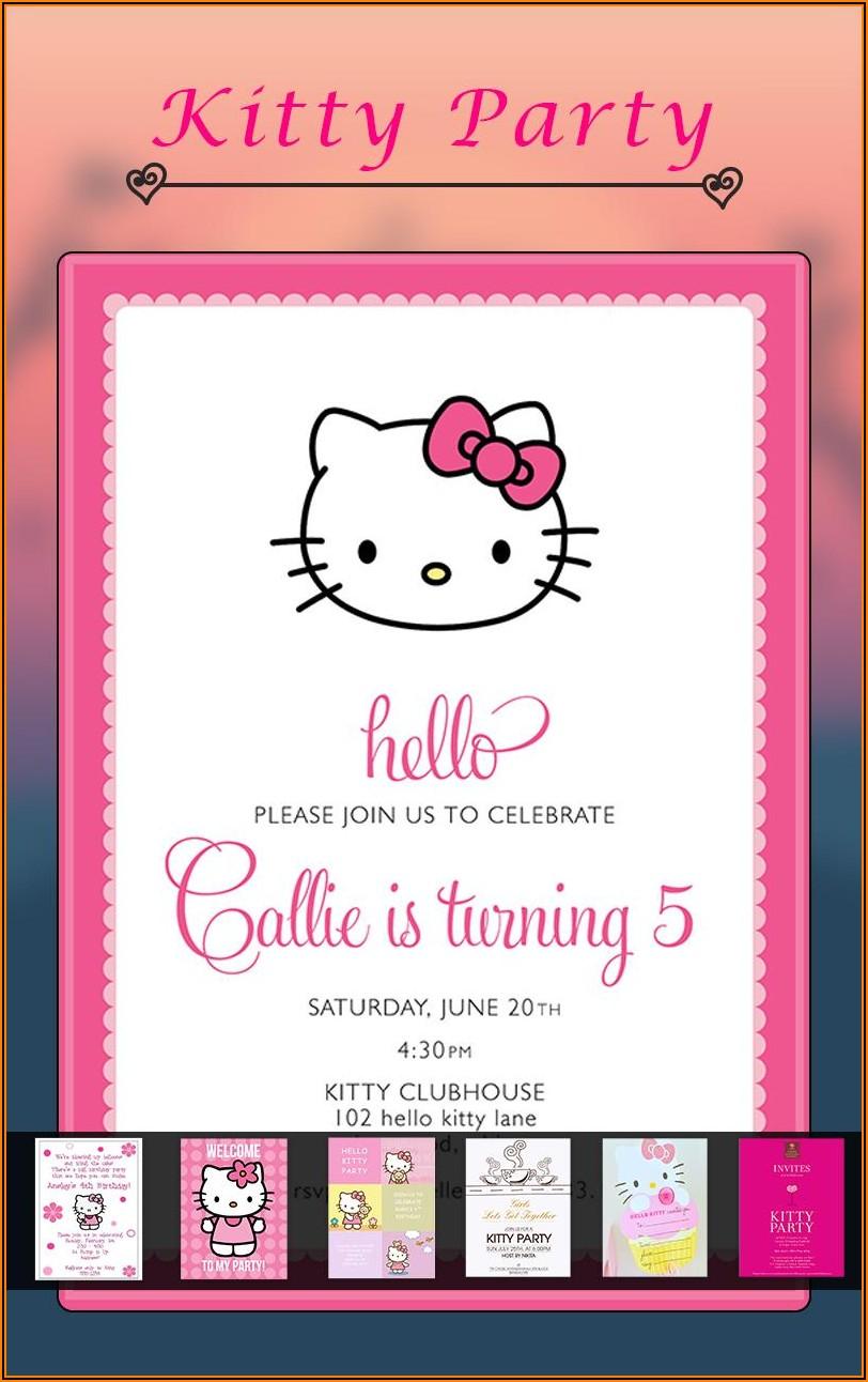 Hello Kitty Invitation Maker App