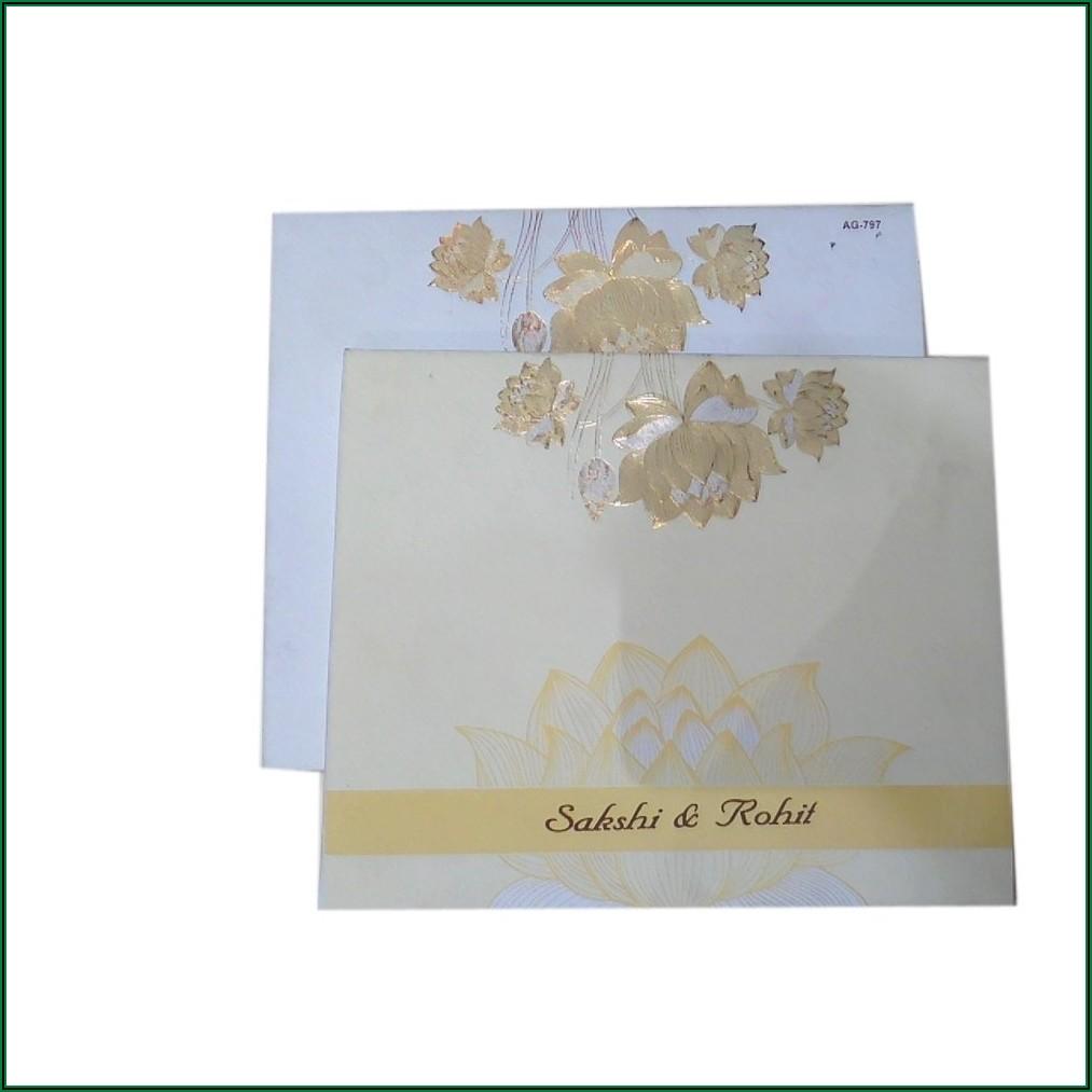 Hindu Marriage Invitation Card Design