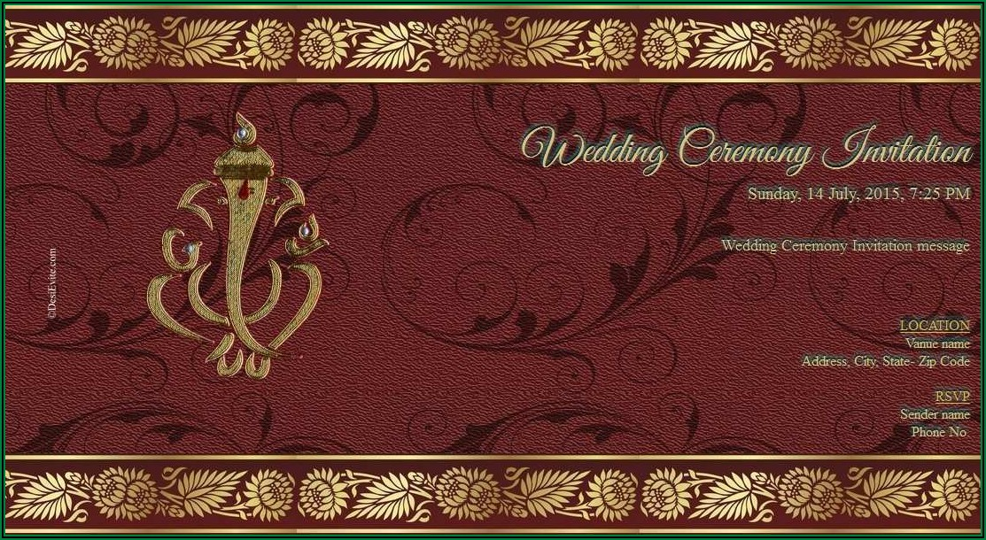 Hindu Wedding Invitation Card Design Online
