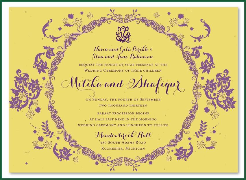 Hindu Wedding Invitation Cards Online