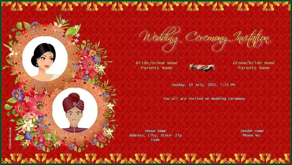 Hindu Wedding Invitation Templates