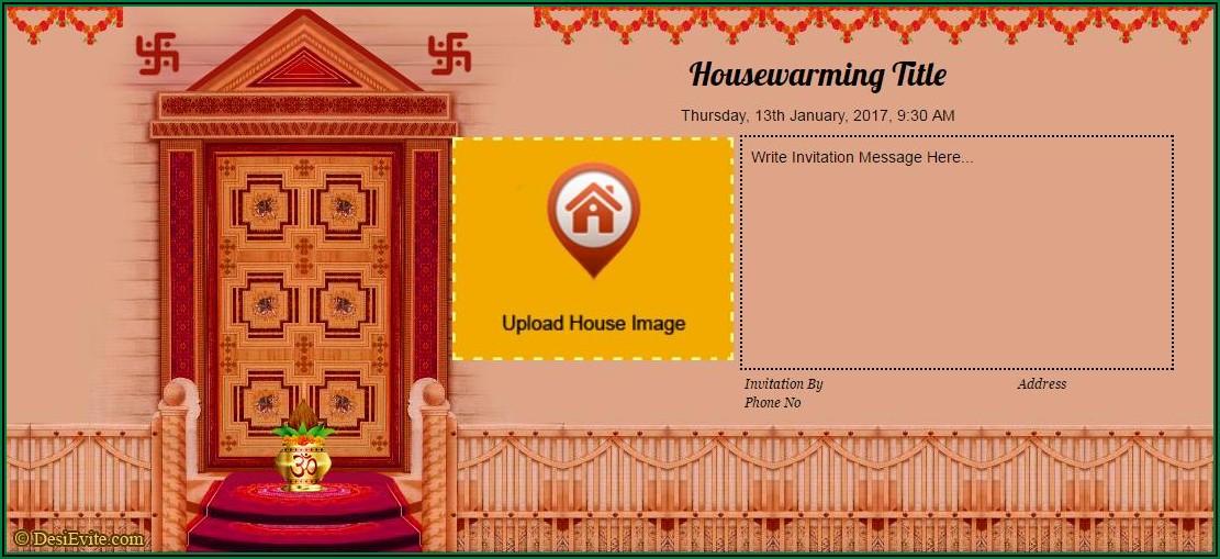 Editable Housewarming Invitation Template Indian 9