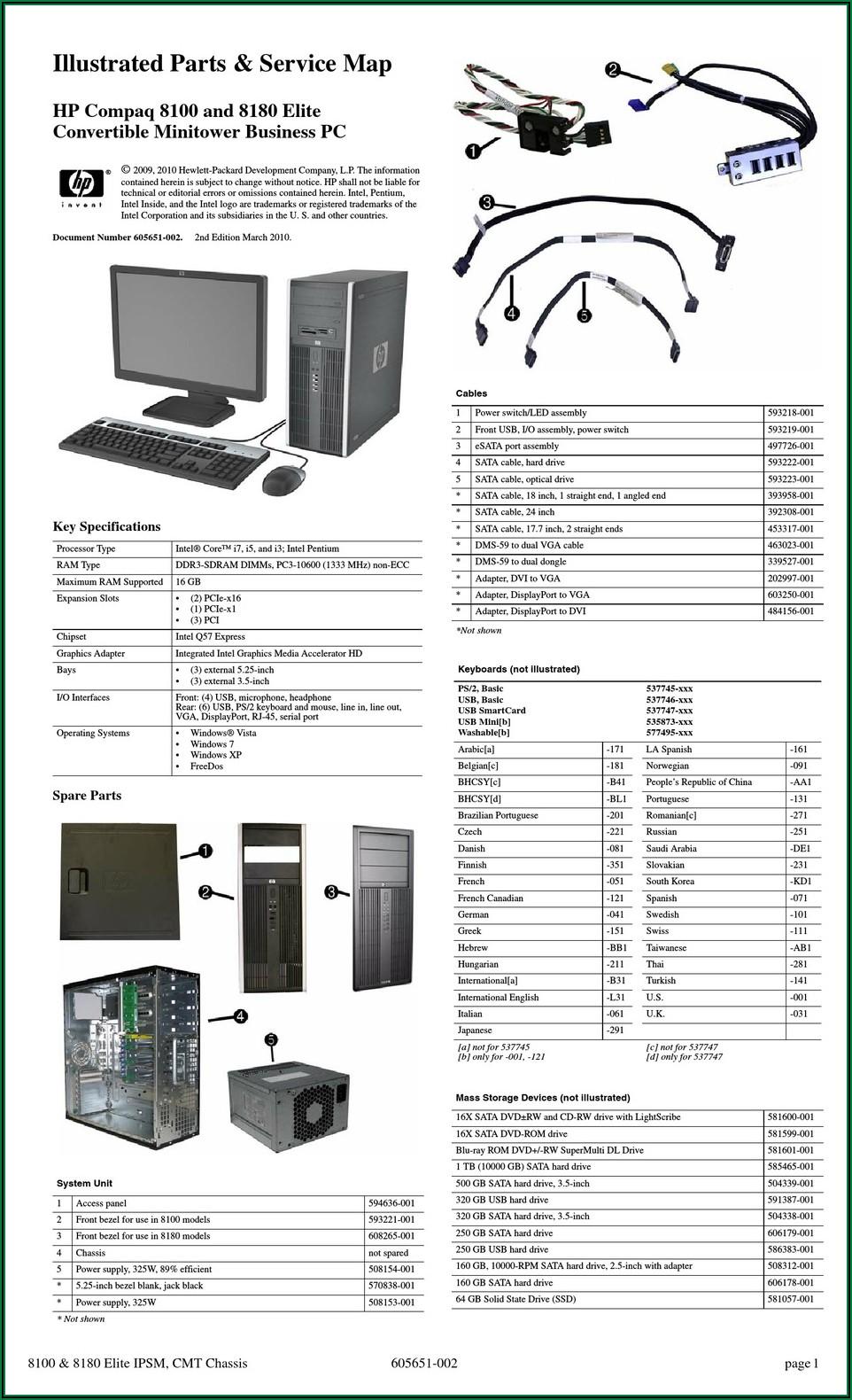 Hp Compaq 8100 Elite Small Form Factor Pc Manual