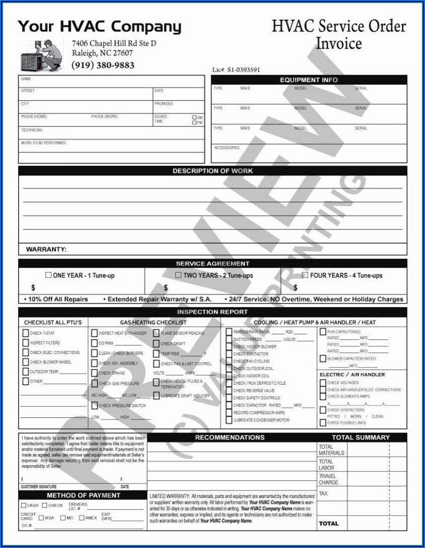 Hvac Preventive Maintenance Form