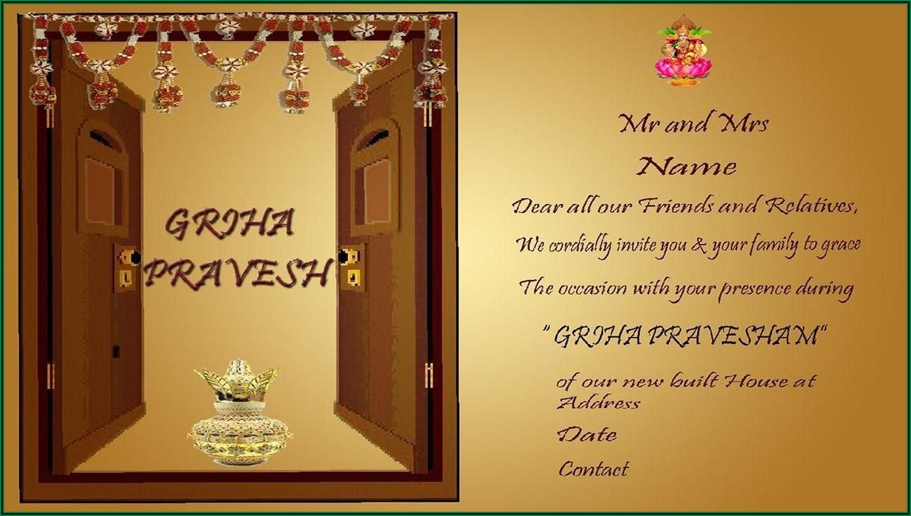 Indian Housewarming Invitation Template Microsoft Word