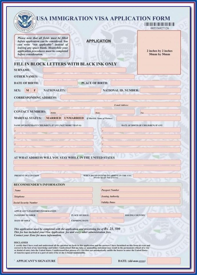 Indian Visa Application For Us Citizens