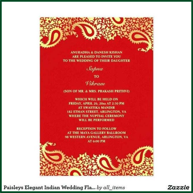 Indian Wedding Invitation Card Template Online Free