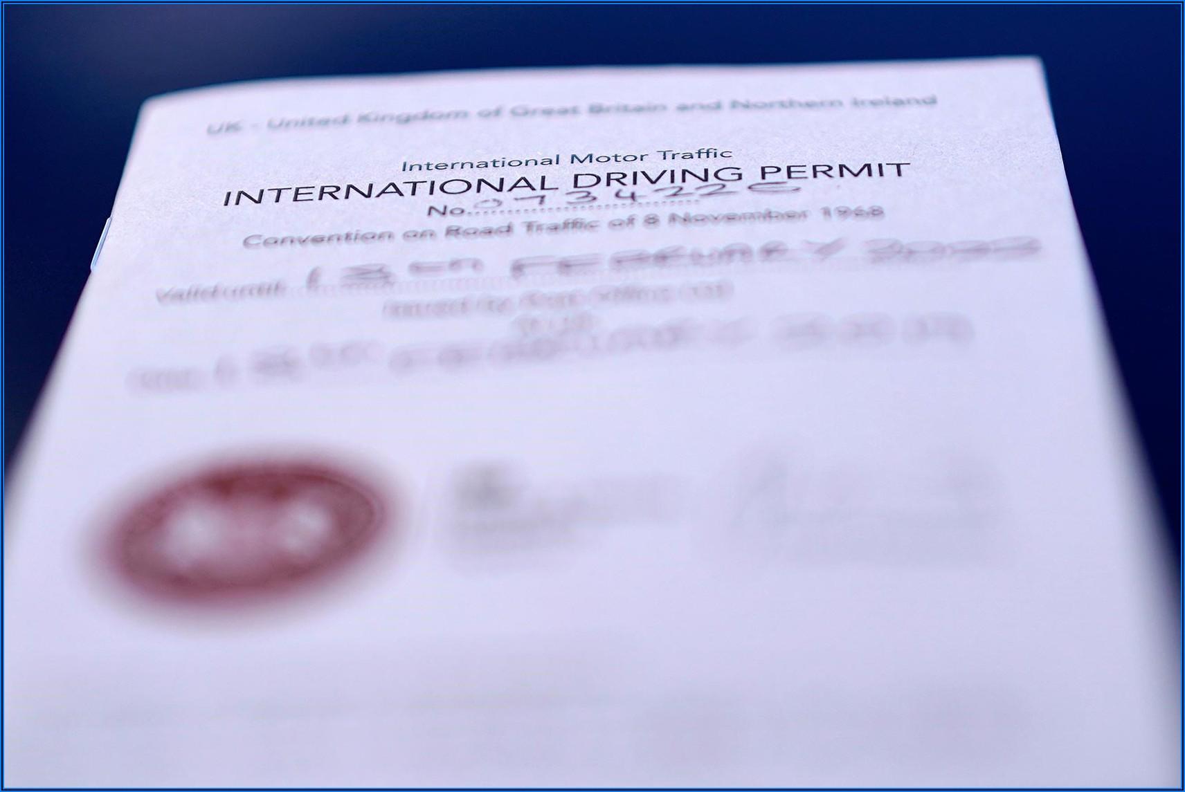 International Driving Licence Application Form Ireland