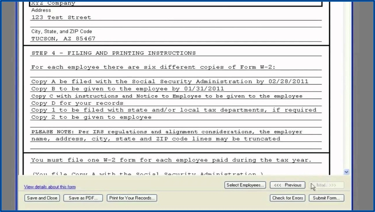 Intuit W2 Tax Forms