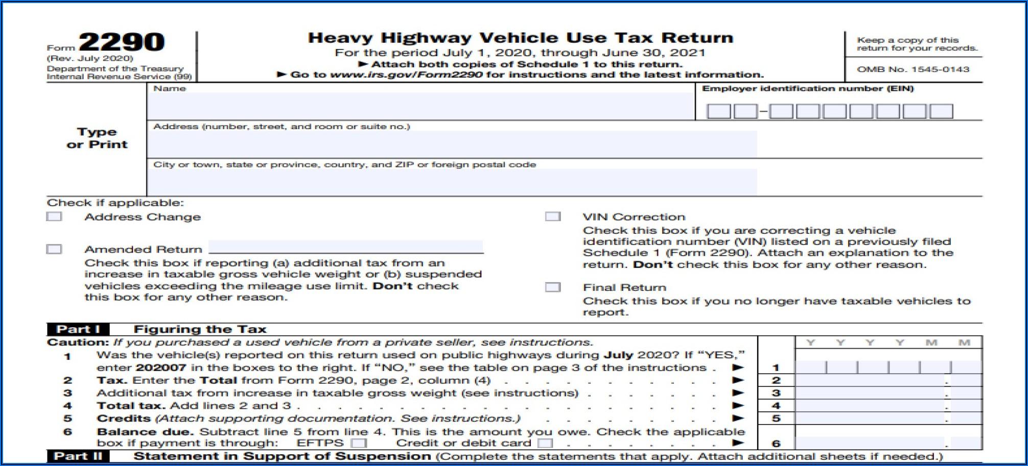 Irs Tax Form 2290 Online
