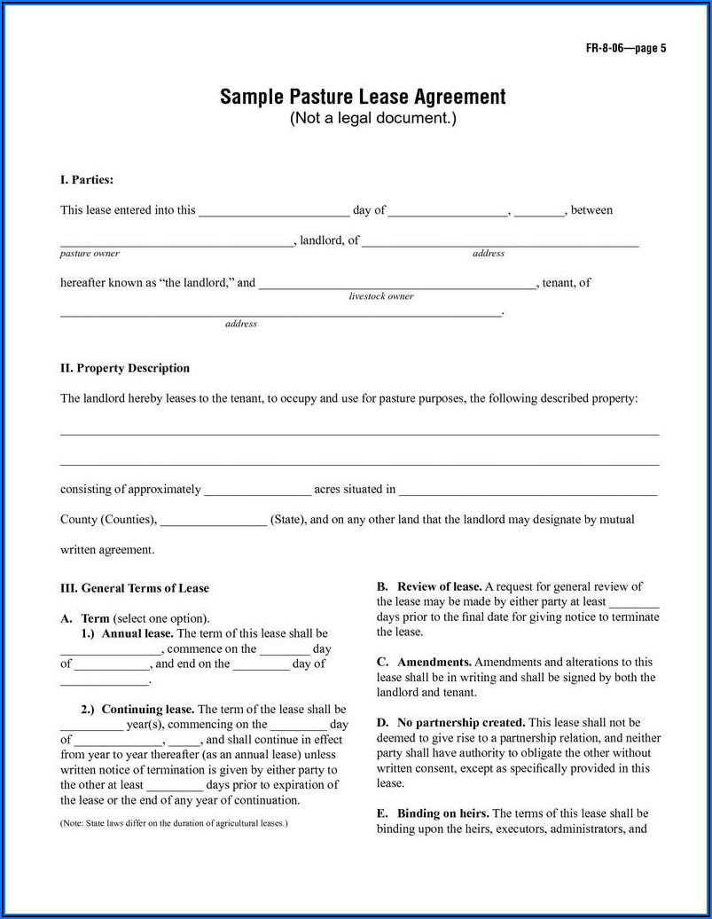 Landlord Tenant Lease Agreement Form