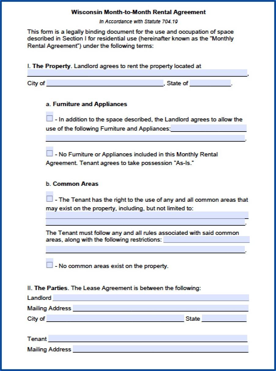 Landlord Tenant Lease Agreement Washington State