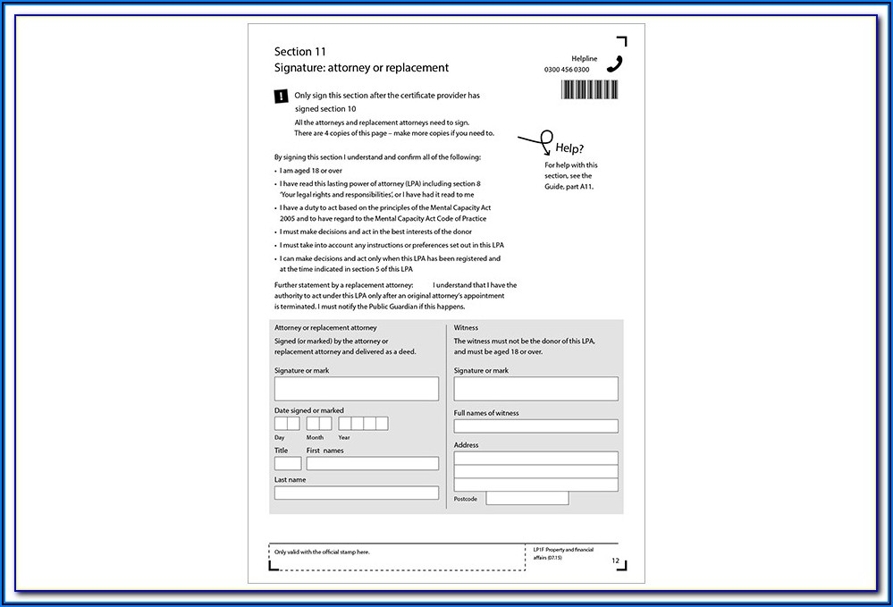 Lasting Power Of Attorney Forms Login