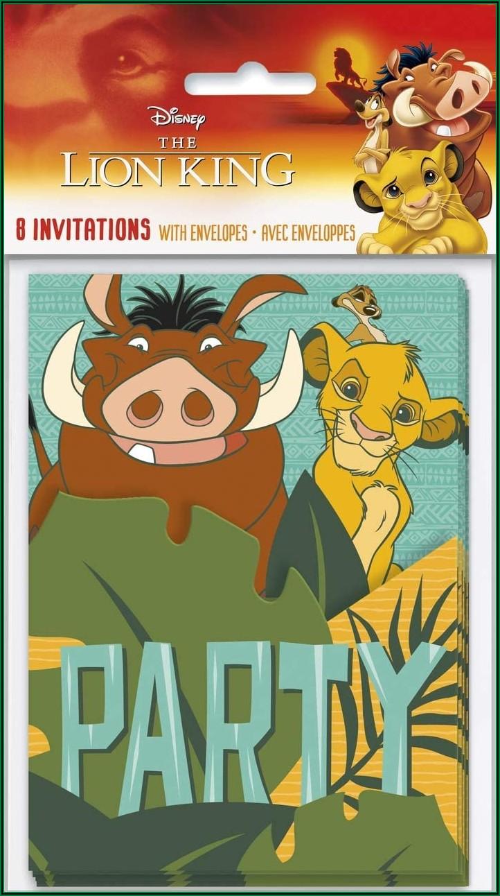 Lion King Invitations Free