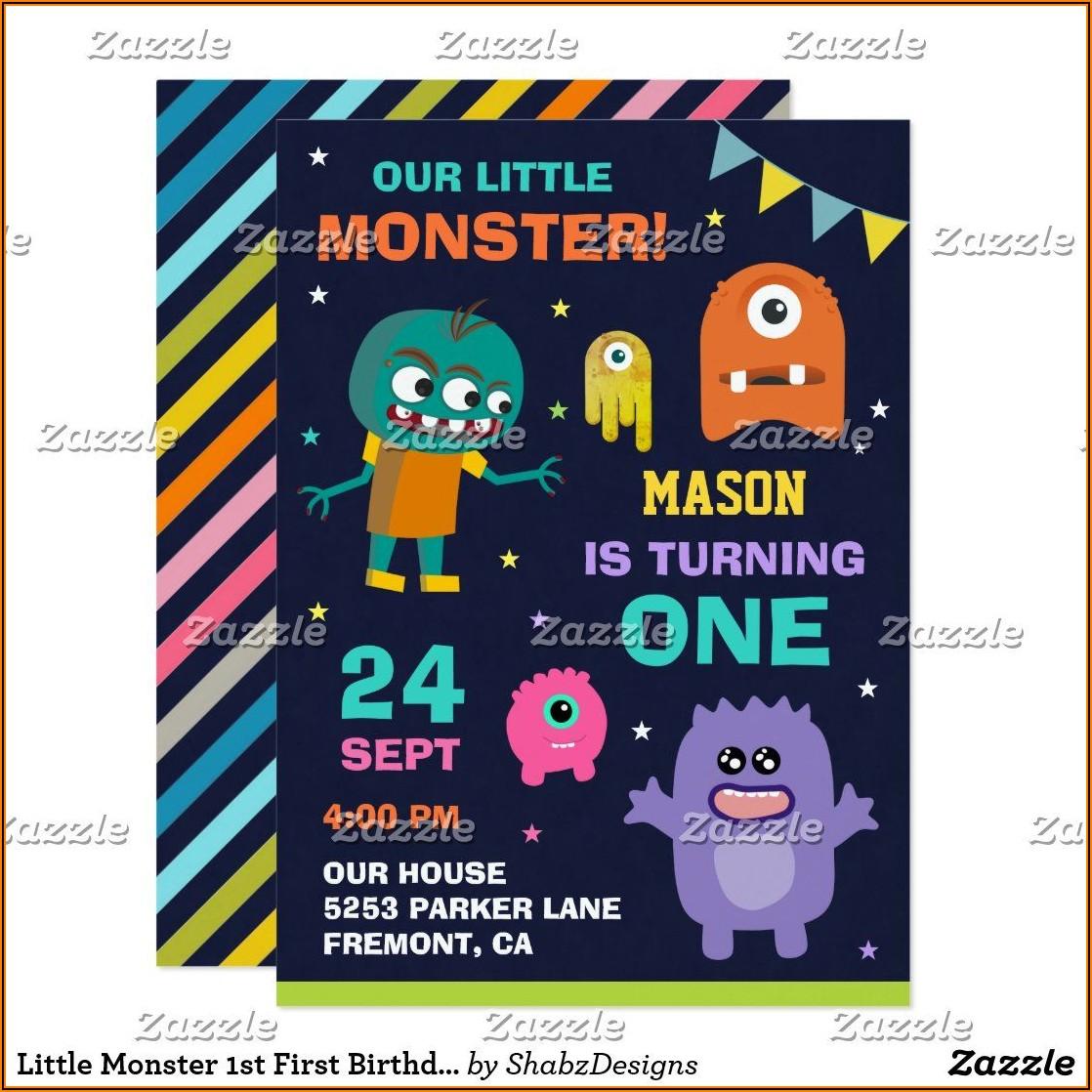 Little Monster 1st Birthday Invitations