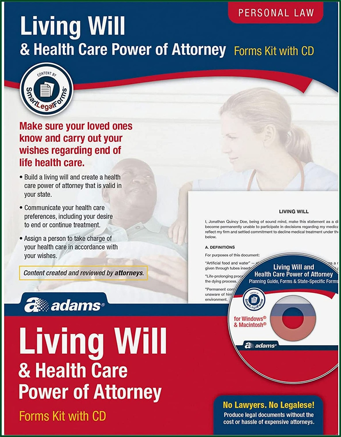 Living Will And Health Care Power Of Attorney Forms
