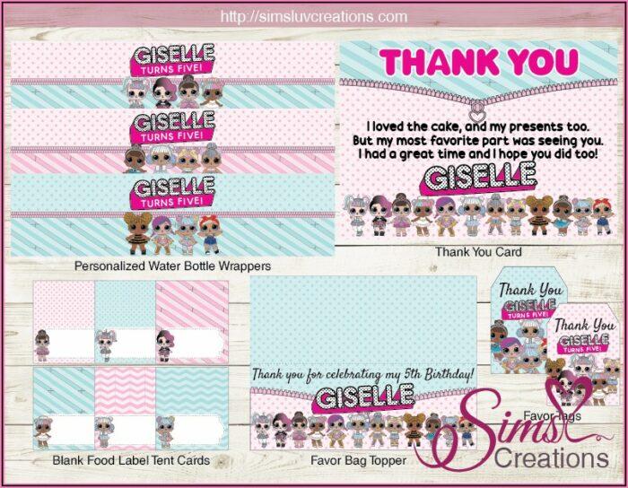 Lol Doll Birthday Invitation Template