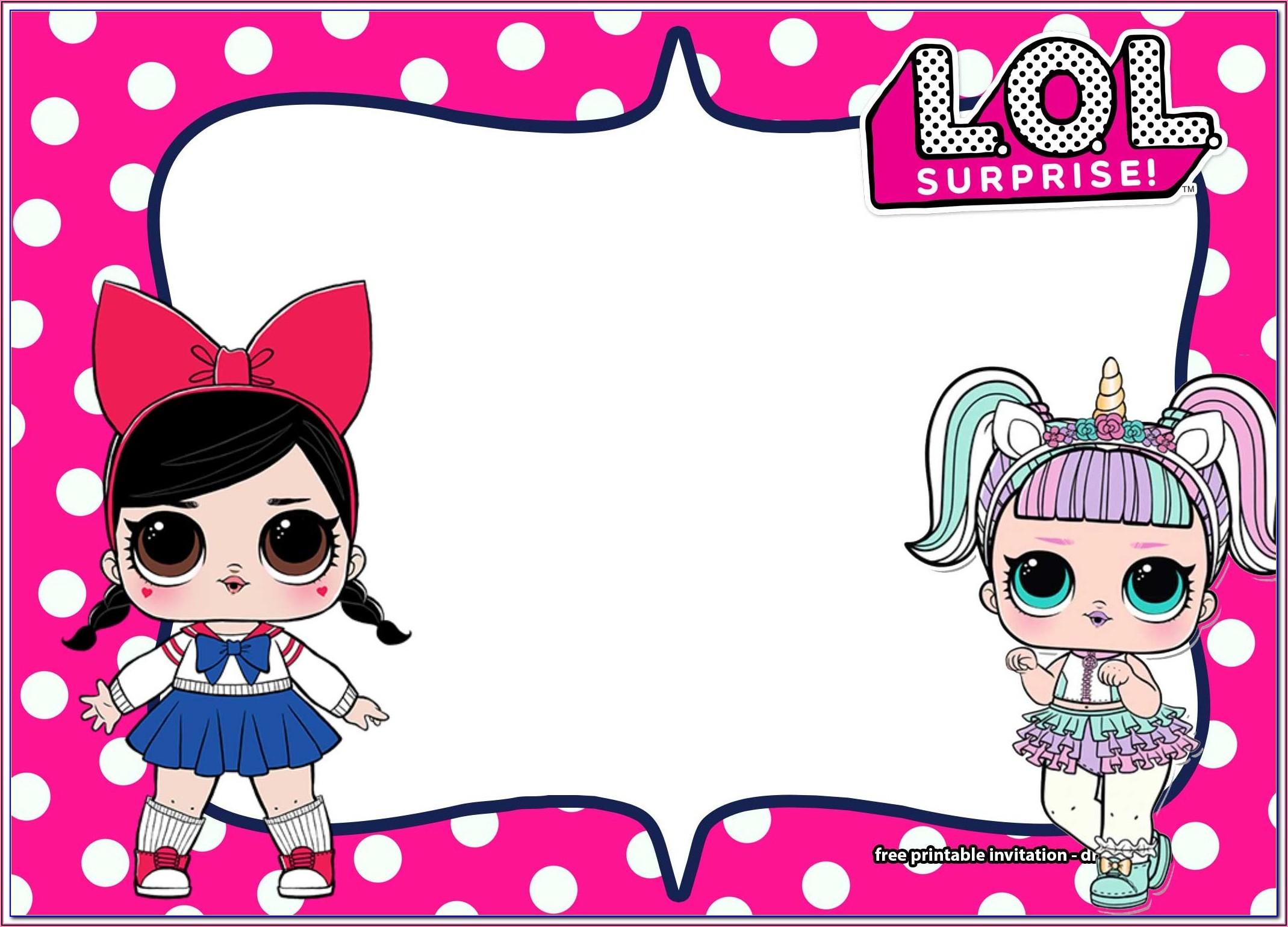 Lol Doll Invitations Printable