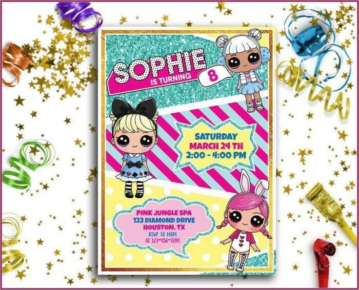 Lol Surprise Doll Invitations Template