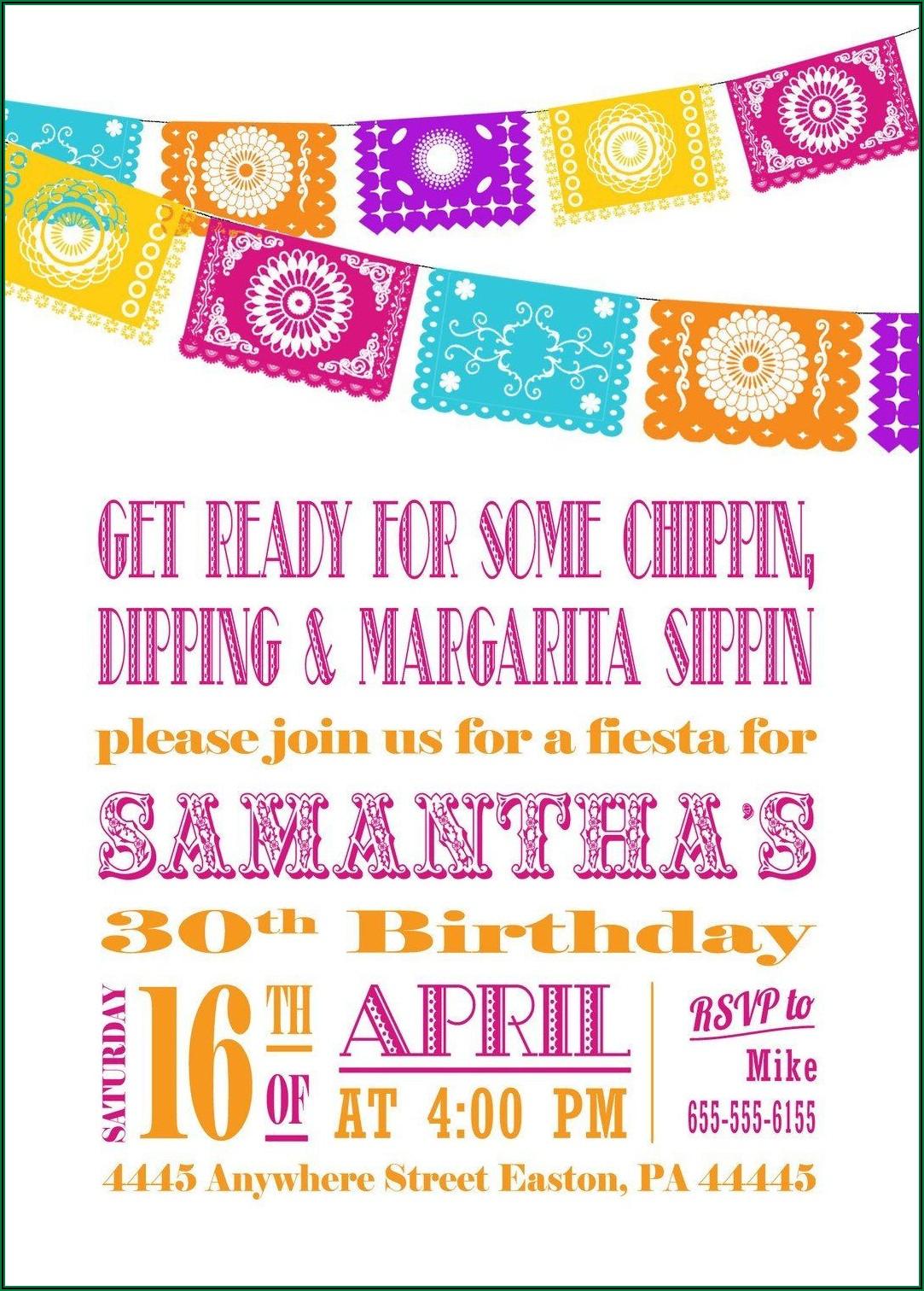 Mexican Fiesta Party Invitation Templates