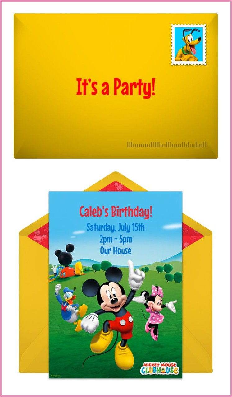 Mickey Mouse Clubhouse Birthday Invitations Online