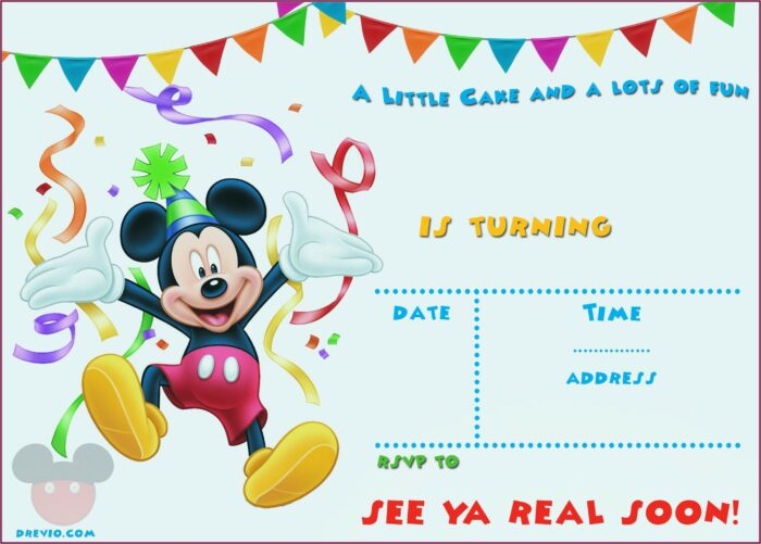Mickey Mouse Clubhouse Birthday Invitations Templates Free