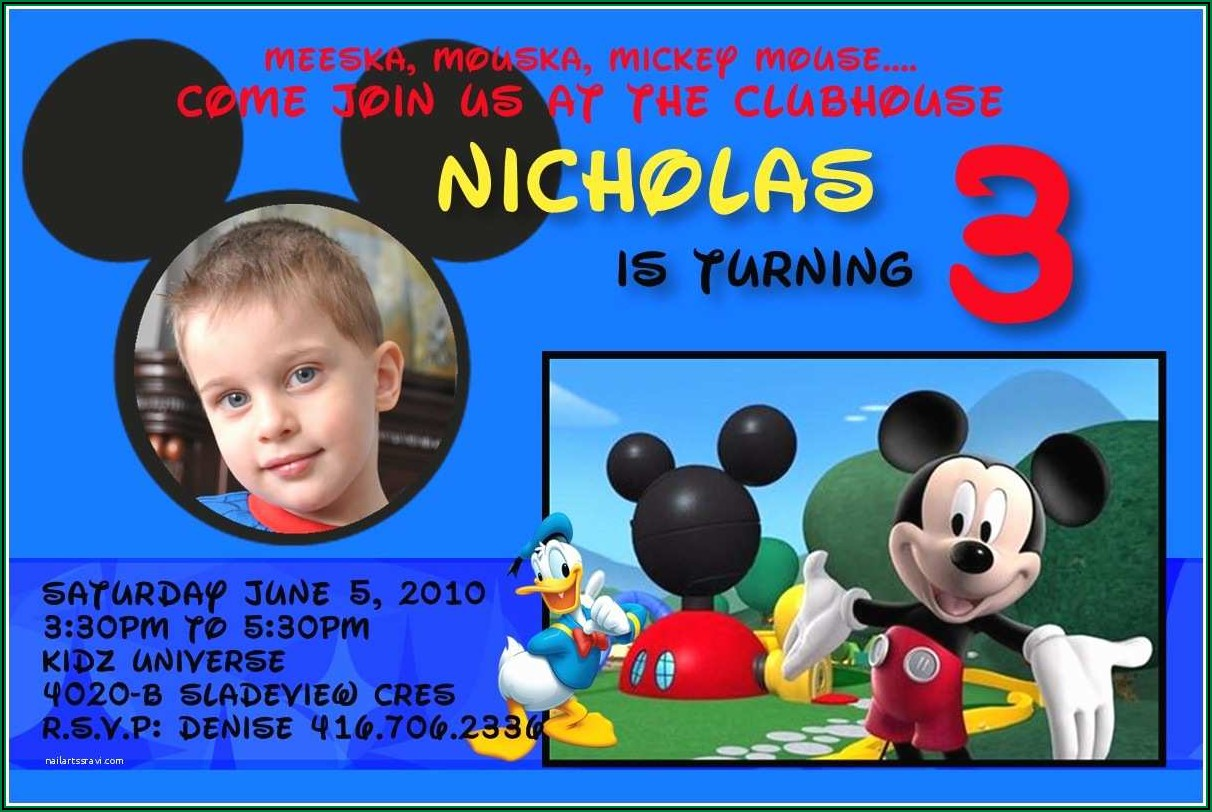 Personalized Mickey Mouse Birthday Invitations Personalized Mickey Mouse Birthday Invitations ? Gangcraft