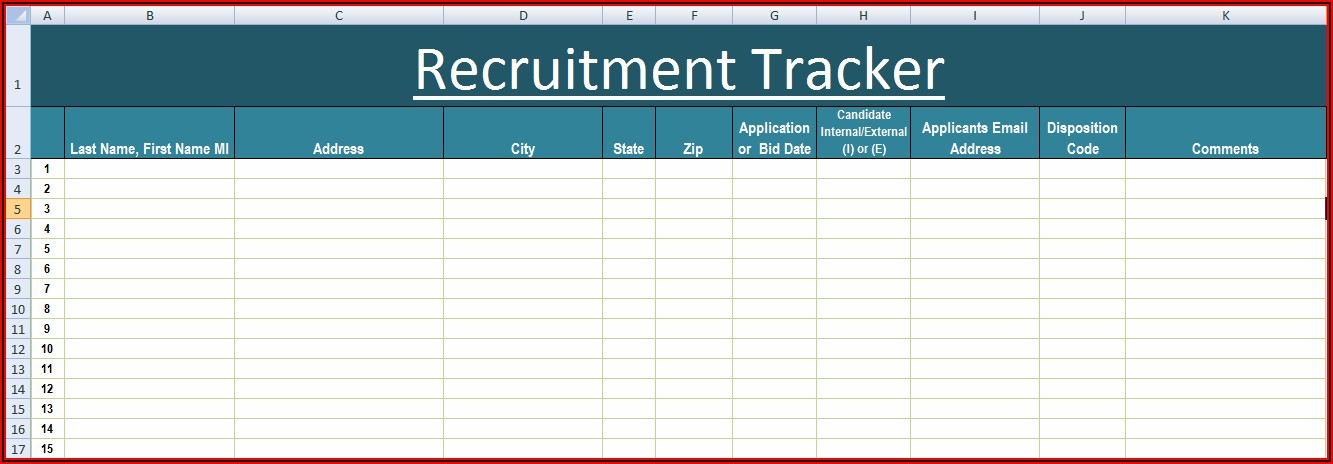 Microsoft Access Applicant Tracking Template
