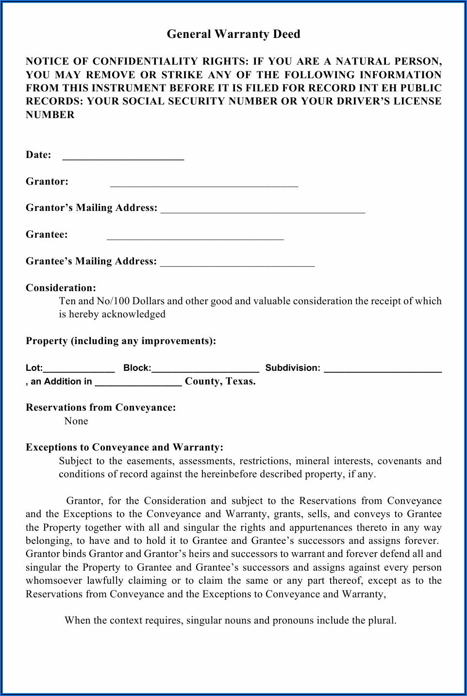 Mineral Deed Form Arkansas
