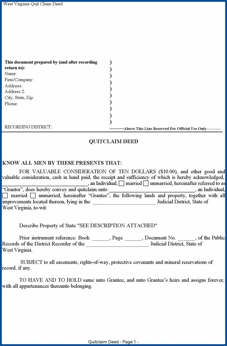 Mineral Rights Deed Form