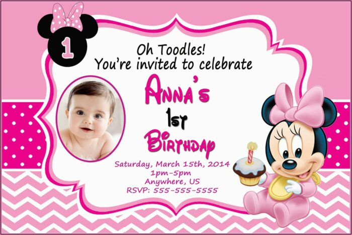 Minnie Mouse 1st Birthday Personalized Invitations