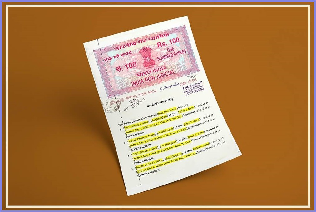 Mortgage Deed Format In Tamil